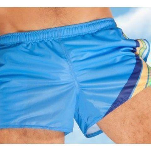 Мужские шорты спортивные голубые Aussiebum Score Shorts Blue