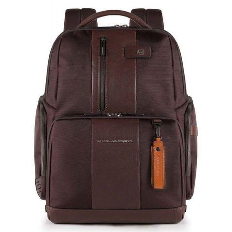 Рюкзак Piquadro Brief (CA4439BRBM/TM) темно-коричневый кожа/ткань