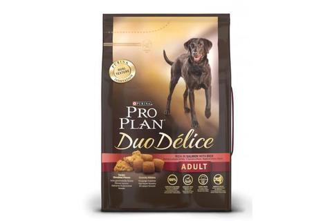 Сухой корм Purina Pro Plan Duo Delice для взрослых собак крупных пород, лосось с рисом