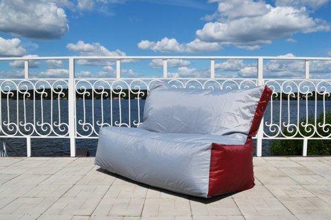 Кресло-мешок «Диван» Серо-Бордовый