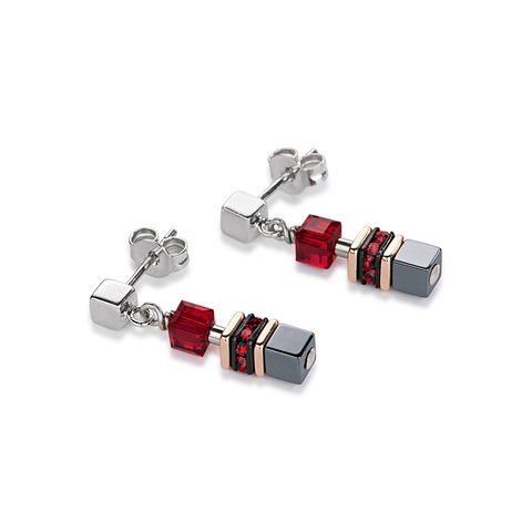 Серьги Coeur de Lion 4857/21-0300 цвет красный, серый