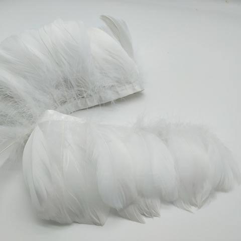 Тесьма из перьев гуся ок. 11 см., белый
