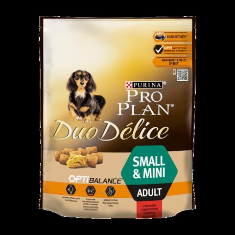 Purina Pro Plan Duo Delice Сухой корм для взрослых собак мелких и карликовых пород с говядиной и рисом