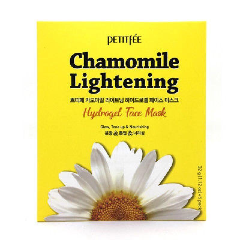 Увлажняющие Маска для лица PETITFEE гидрогелевая c РОМАШКОЙ Chamomile Lightening Hydrogel Face Mask 32 гр MH011013-0-800x800.jpg