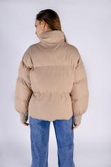 Бежевая куртка женская дутая купить