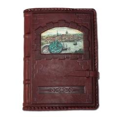Ежедневник кожаный в стиле 19 века модель 41