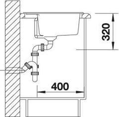 Мойка кухонная Blanco Dalago 6 - вид сбоку
