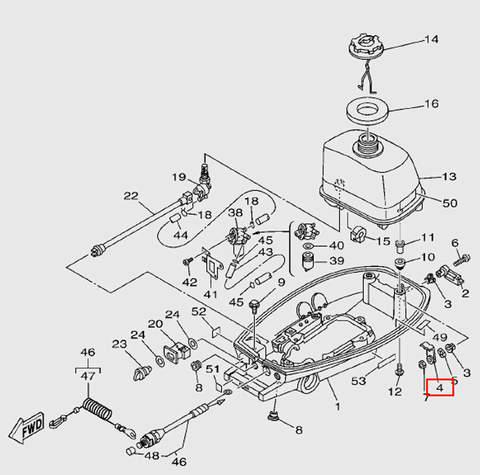 Задвижка фиксации капота  для лодочного мотора T5 Sea-PRO (7-4)