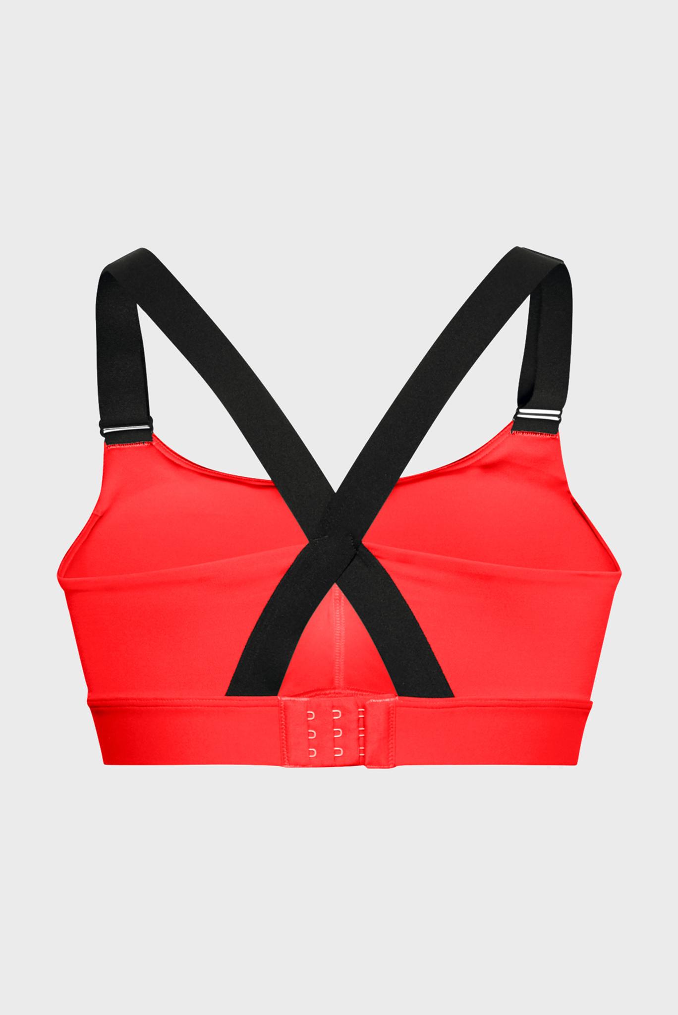 Женское красное спортивное бра Rush Mid Bra-RED Under Armour