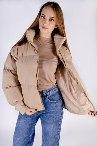 Бежевая куртка женская дутая интернет магазин