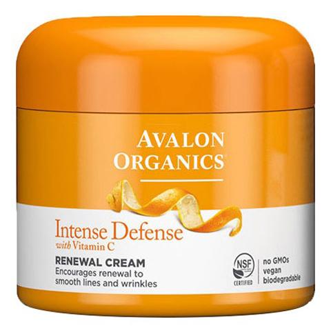 Avalon Organics Vitamin C: Обновляющий крем для лица с витамином (Intense Defense With Vitamin C Renewal Cream), 57г