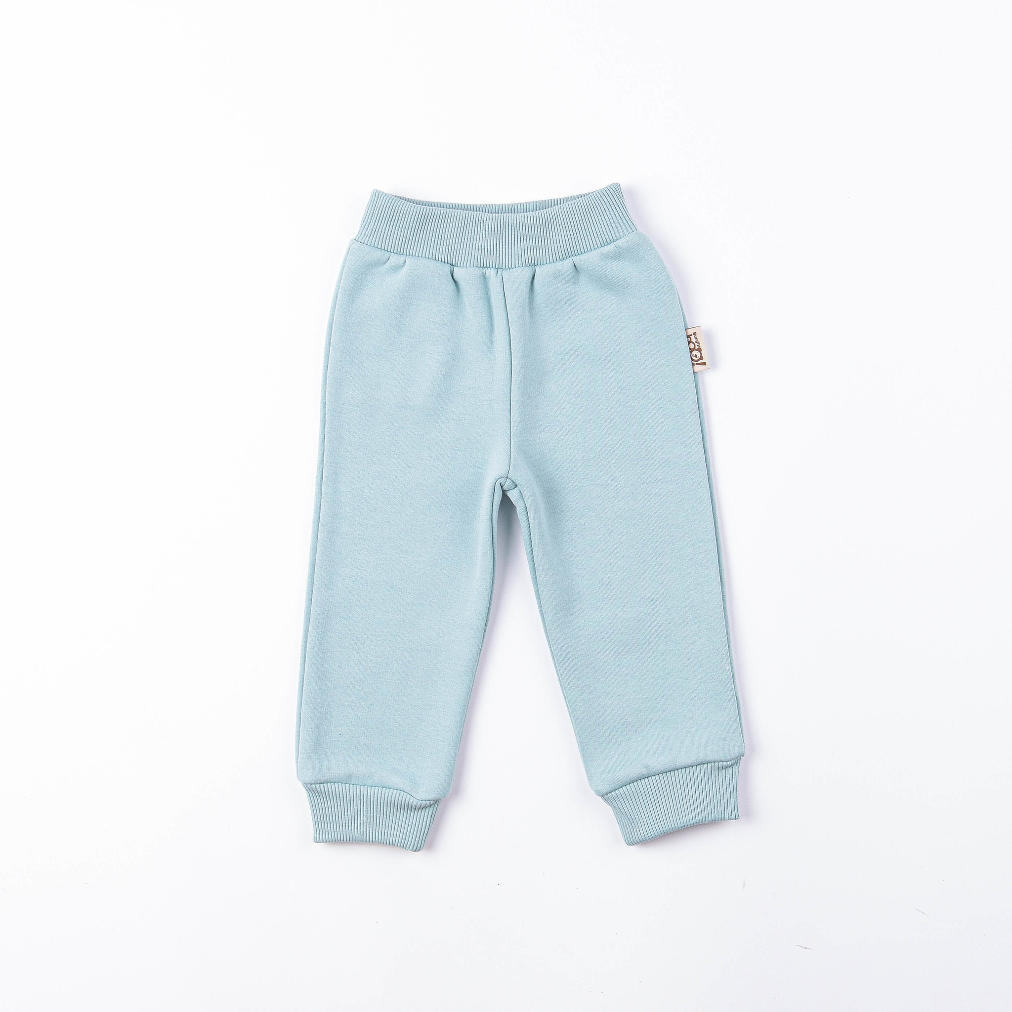 Warm trousers with pockets - Sea Blue