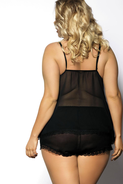 Черный комплект белья большого размера