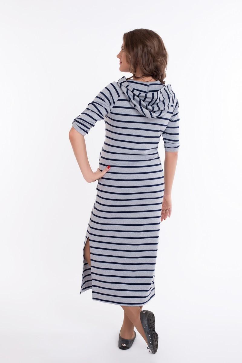 Платье для беременных 09084 серый
