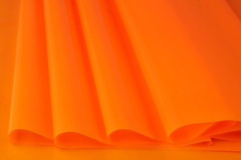 Пленка цветная лак 70 см х 7,6 м. Цвет: оранжевый