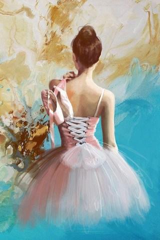 Картина раскраска по номерам 40x50 Балерина