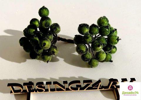 Рябина на ветке в сахаре (упаковка 20 штук), цвет темно-зеленый