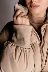 Бежевая куртка женская дутая недорого