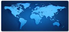 Коврик для мыши большой Карта Мира Голограмма