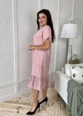 Една. Зручна повсякденна сукня великих розмірів. Пудра
