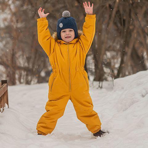Winter membrane jumpsuit - Mustard