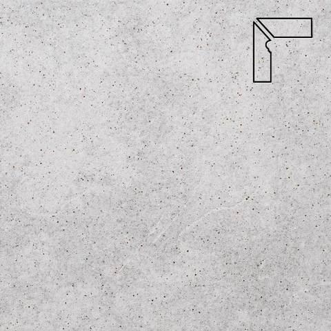 Stroeher - Keraplatte Roccia 837 marmos длина стороны угла 290 артикул 9117 - Плинтус клинкерной ступени левый