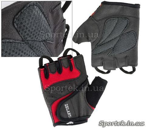 Перчатки Zelard c відкритими пальцями і петелькою для зняття, розмір XS