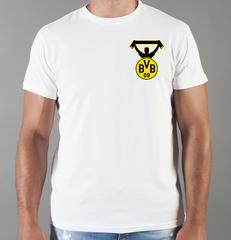 Футболка с принтом FC Borussia Dortmund (ФК Боруссия) белая 005