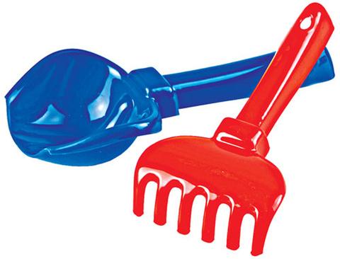 Набор лопатка + грабельки, цвет в ассортименте