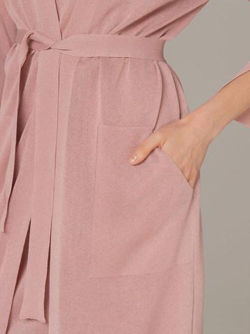 Женский кардиган розового цвета - фото 5