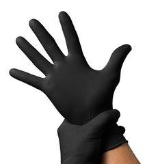 Перчатки черные нитриловые