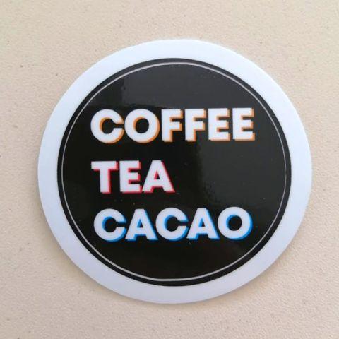 Наклейка Coffee Tea Cacao (глянцевая)
