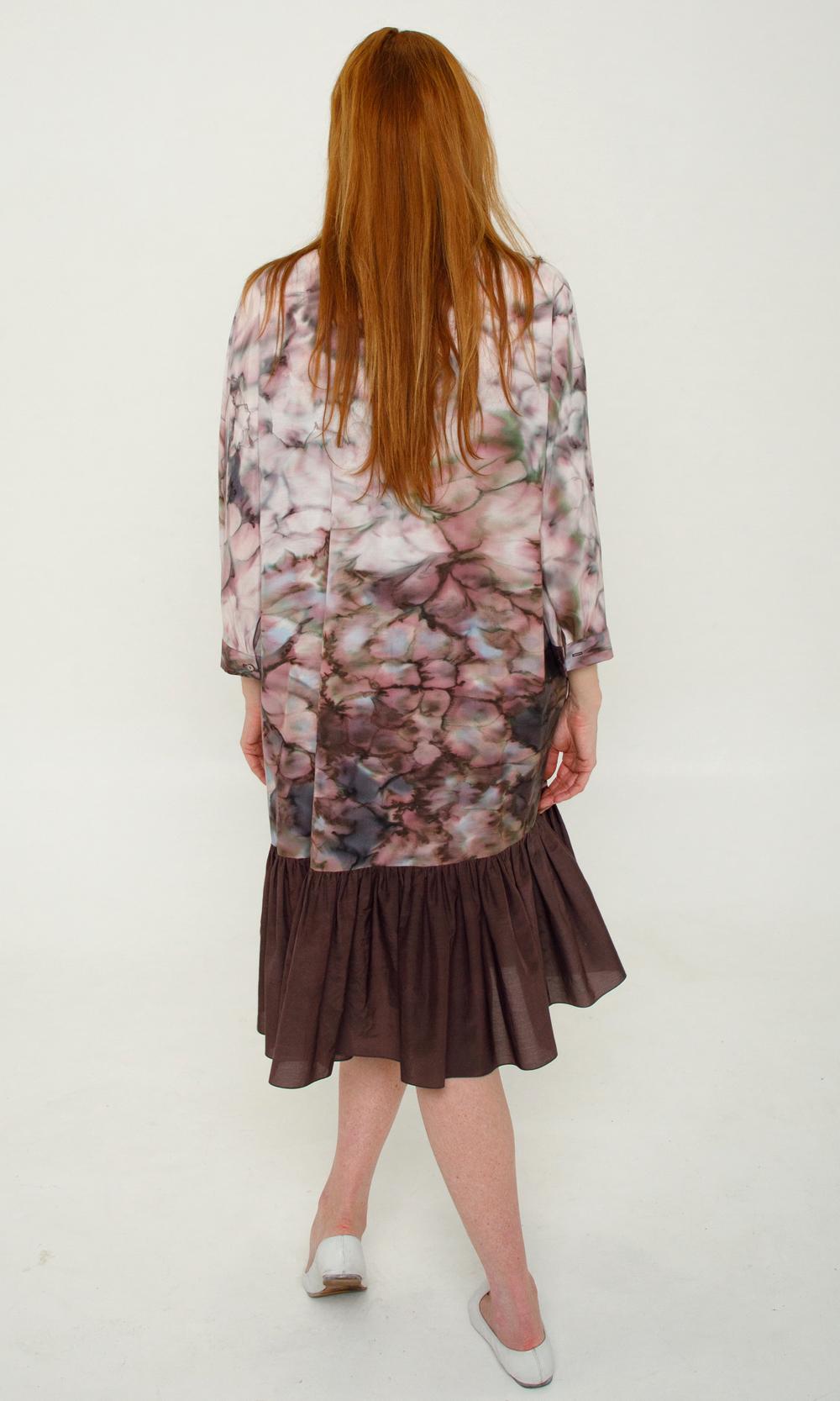 Шелковое платье - халат батик
