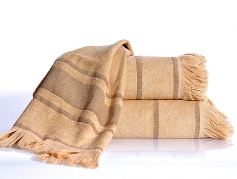 DURU Bej (бежевый)  бамбуковое пляжное полотенце / IRYA (Турция)