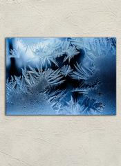 Картина на стекле/ Картина на стену Зимние узоры, 40х28см