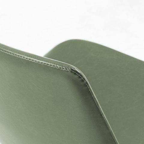 Zast Стул металлический черный PU зеленый