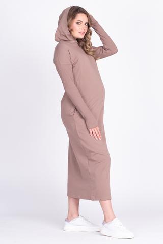 Платье для беременных и кормящих 12627 мокко