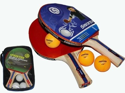Набор для н/т Sprinter (2ракетки + 3 шарика) в сумочке. :(ВВ01):