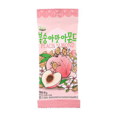 Миндаль обжаренный со  вкусом персика Peach  Almond 30 гр