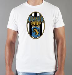 Футболка с принтом FC Juventus (ФК Ювентус) белая 004