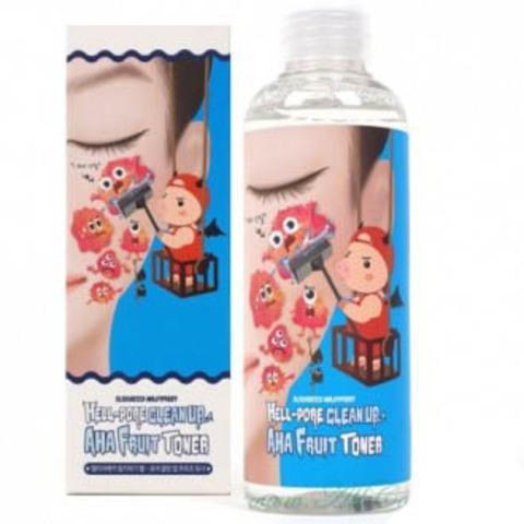 Elizavecca Тонер-пилинг  Фруктовые кислоты Elizavecca Hell-Pore Clean Up Aha Fruit Toner, 200 мл