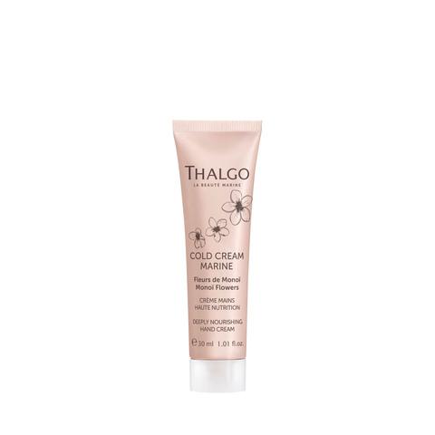 Thalgo Интенсивный питательный крем для рук с ароматом монои миниатюра Deeply Nourishing Hand Cream Monoi Flowers