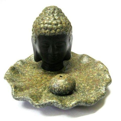 Подставка под благовония Будда Золотой, керамика 12 см