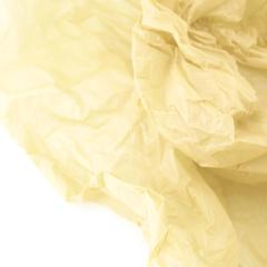 Водостойкая тишью для цветов, нежно-желтая, 0,6 м*10 м