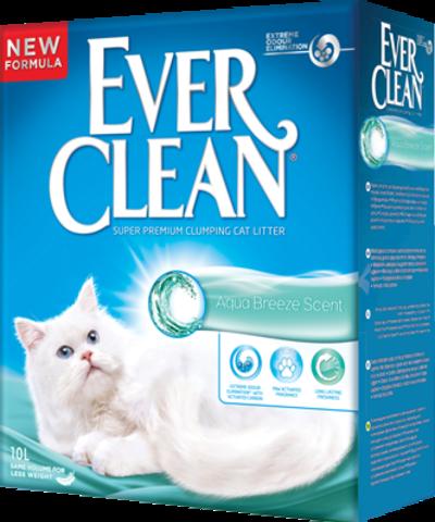 Ever Clean Extra Strong Clumping Unscented - Наполнитель комкующийся без ароматизатора для кошек (голубая полоска) [10 кг.]