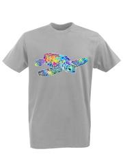 Футболка с принтом Море Черепаха (Море, Океан, ) серая 002