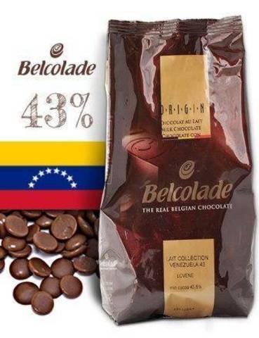 Молочный шоколад Белколад / Belcolade 43% Венесуэла