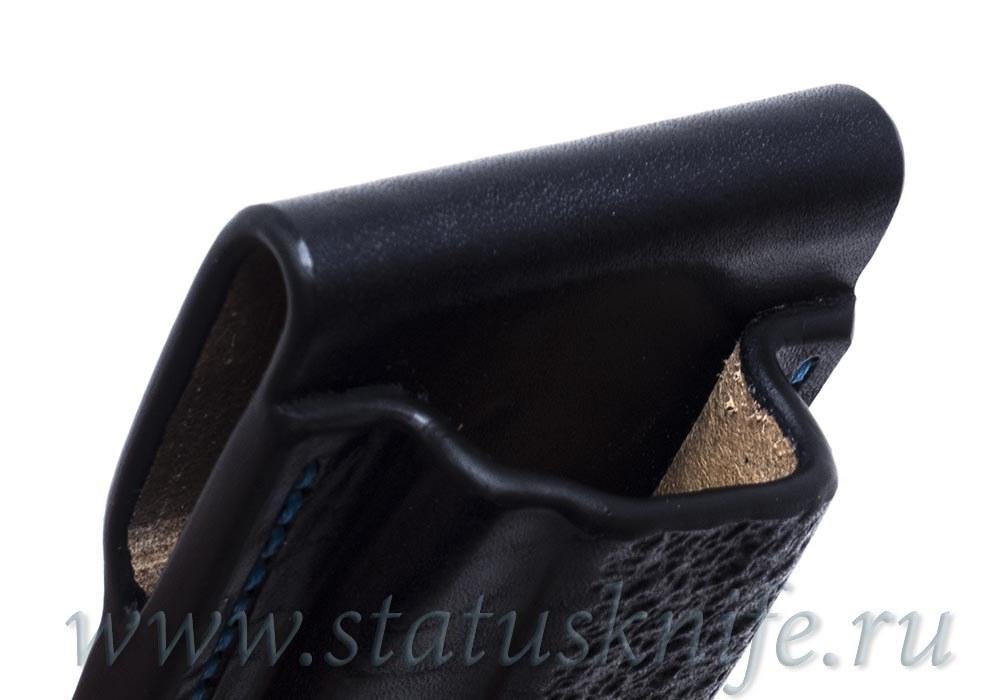 Чехол кожаный черный Black Buck 110 - фотография