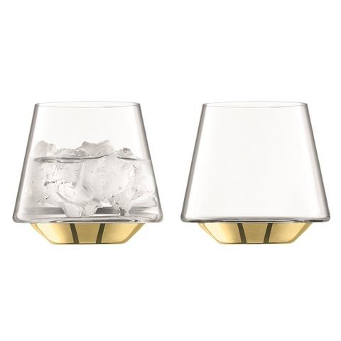 Набор из 2 бокалов для вина и воды Space, 430 мл, золото