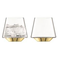 Набор из 2 бокалов для вина и воды Space, 430 мл, золото, фото 1
